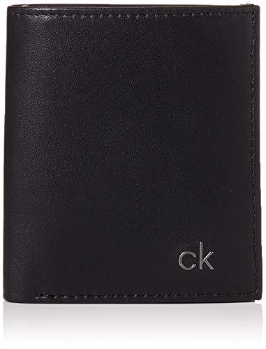 Calvin Klein - Smooth CK Mini NS 6 CC Coin Pass, Monederos Hombre, Negro (Black), 0.1x0.1x0.1 cm (B...