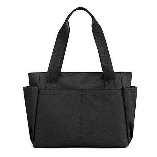 Bolso de la compra grande casual bolso ligero bolso de hombro para mujeres viaje, negro (Negro),...