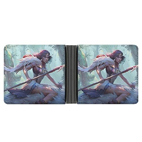 Las carteras Princess Mononoke para hombre son exquisitas y de gama alta, multifuncionales, regalos...