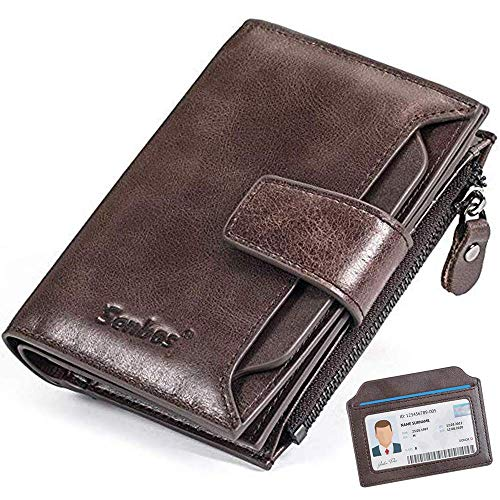 Senbos Carteras para Hombre, Piel Monedero con RFID Bloqueo, 18 Ranuras para Tarjetas de Crédito, 1...